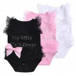 Elegant bodysuit with mesh for baby girl