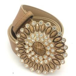 Rihschpiece leather belts for women - luxury women belt buckle -vintage gold fashion waist belt