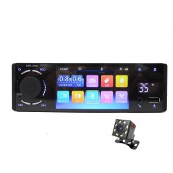 "Bluetooth autoradio - 1 Din - 4"" touch screen - MP5 video player - USB - TF - Handsfree A2DP - Mirror link"