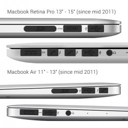"""Anti-dust protection set for Apple MacBook Pro 13"""" 15"""" Retina / Air 11"""" 13"""" - protective plugs"""