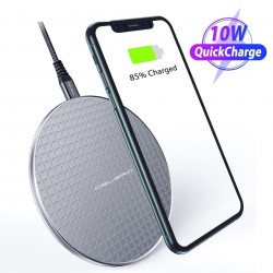 10W QI wireless charger - fast charging pad for iPhone - Samsung S20 - Note 10 Plus - Xiaomi MI 9
