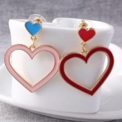 Heart shaped long earrings