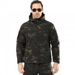 Mens Army Camouflage Jacket and Coat Military Tactical Jacket Winter Waterproof Soft Shell Jackets