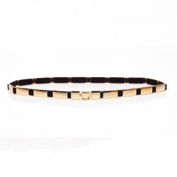 Fashionable elastic gold belt