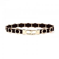 Elastic Waist Womens Circle Metal Chain Belt Fashion Elegant Jewelry Gold Belt For Woman dress BL36