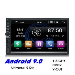 2 Din Bluetooth Android 9 Autoradio - WiFi - USB - GPS-Navigation - Mirrorlink - MP3 MP5