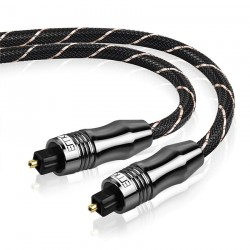 Toslink - OD6.0 - SPDIF - digital optical fiber audio cable - braided - 1m - 1.5m - 2m - 3m - 5m - 8m - 10m - 15m