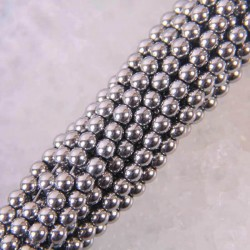 4MM Magnetic Hematite Round Loose Beads Strand 155 Inch Jewelry For Woman Gift Making B230