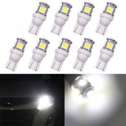 Lumières LED T10 5SMD 5050 W5W Xenon 10 pcs