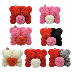 Two bears made from infinity roses - 25-35cm - rose bear