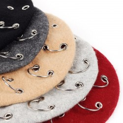 17th-century beret - cap with silver rings