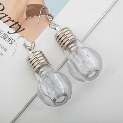 unique design colorful light bulbs drop earrings