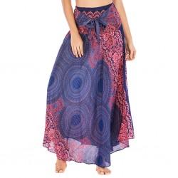 women hippie bohemian skirt - lady girls dancing party soft flowers elastic waist floral daily short skirt