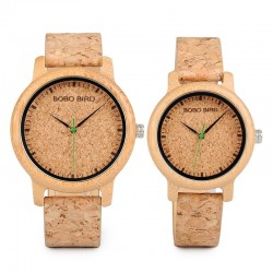 lovers watches - wooden timepieces handmade cork strap bamboo women watch