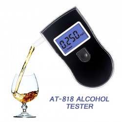 Professional Alcohol Tester Police LCD Display Digital Breath Quick Response Breathalyzer for the Dr