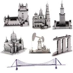 3D Metal Puzzle building model sets DIY Laser Cut Puzzles Jigsaw Model Educational Toys For Adult Ch