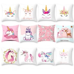 Frigg Unicorn Sofa Decorative Cushion Covers Cartoon Owl Seat Cushion Chair Home Decor Pillow Case P