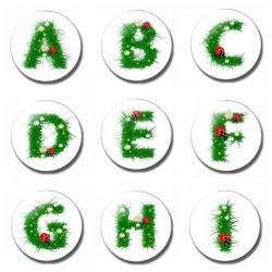 26 Letter 30 MM Fridge Magnet Child Letter Magnet Cartoon Kids Gifts Glass Magnetic Refrigerator Sti