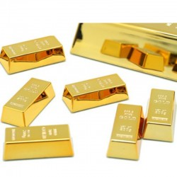 1pc Creative Gold Brick Shape Refrigerator Magnets Resin Craft Gift For Home Refrigerator Decoration