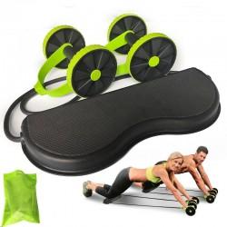 AB wielen roller - rekbare elastische weerstand trekkoord - buikspiertrainer