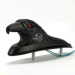 Schwarzer Adlerkopf für Kotflügel - mit rot beleuchteten Augen