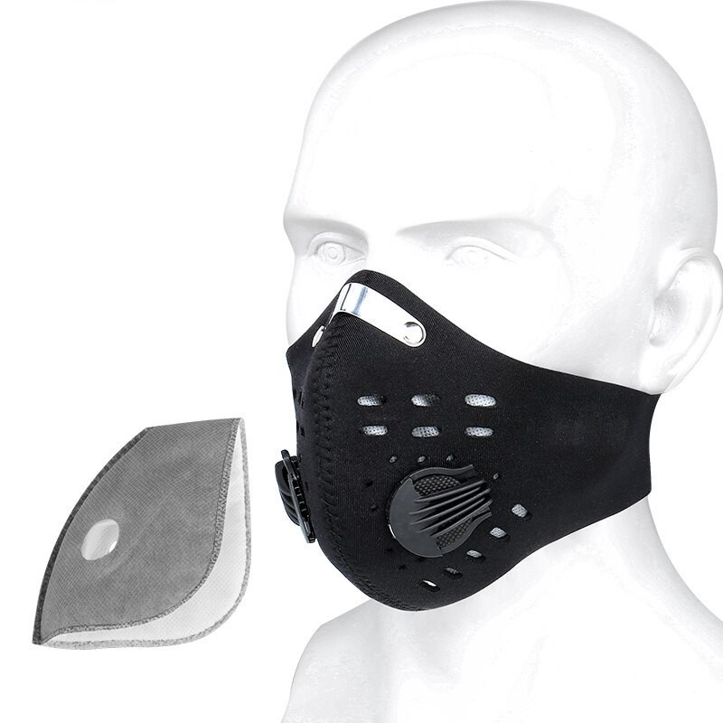 KN95 face/mouth mask - pm25 activated carbon filter - sports & training - anti-pollution & bacteria