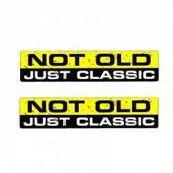 YJZT 2X 152CM33CM NOT OLD CLASSIC Interesting Car Sticker PVC Character Decal Body 12-0010