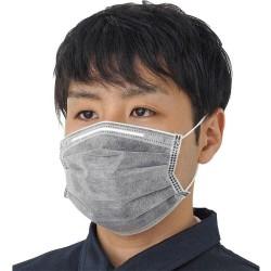 Nano filtre au charbon actif - masque bouche / visage à 4 couches - antibactérien - gris