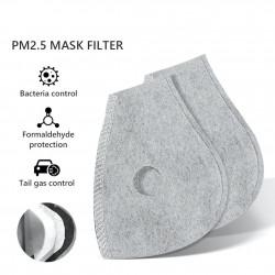 PM25 - actief kool vervangend filter voor mond / gezichtsmasker met dubbele luchtklep - 10 stuks