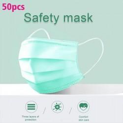 Masques jetables pour le visage et la bouche - 3 couches - anti-poussière - anti-bactérien - premium vert