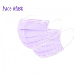 Disposable face/ mouth masks - 3 layer - anti-dust - anti bacterial - premium purple
