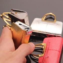 Elegant bag shape - refillable gas cigarette lighter
