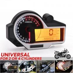 LCD Digital Speedometer Odometer For BMW KAWASAKI SUZUKI HONDA