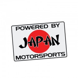 POWERED BY JAPAN MOTORSPORTS - car sticker - 11.2cm * 7.5 cm