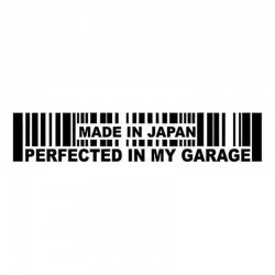 15.2 * 3cm - Made In Japan Perfected In My Garage - auto sticker