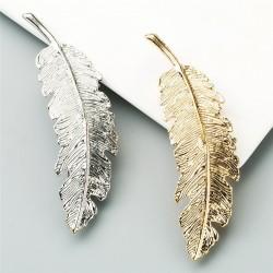 Vintage Leaf Hairpins - Gold/silver