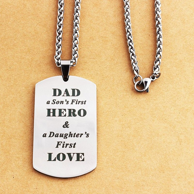 DAD'S HERO - stainless steel necklace - Father's Day