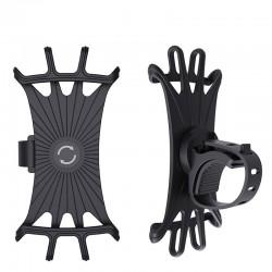 Silicone Car Phone Holder - Black/Orange