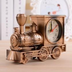 Vintage Retro Clock - Train/Motorcycle