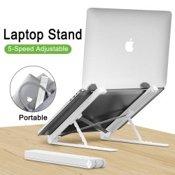 MacBook / laptop pc plastic standaard - silicagel - verstelbare en inklapbare