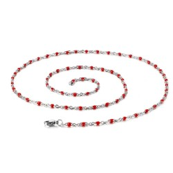stainless steel classic link necklace