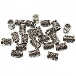 Futhark Viking Hair Bead - 24pcs/Set