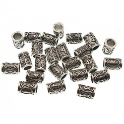 Viking Runes Metal Spacer Beads - 24pcs/Set