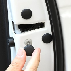 Car door lock screw protection - black - white