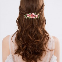 Enamel flower - hair clip