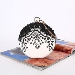 Luxury evening bag - vintage - diamond - gold chain