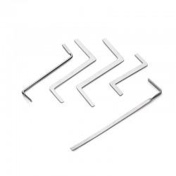 12 Pieces - Lock Pick Set - Locksmith supplies - broken key Auto extractor - stainless steel hooks