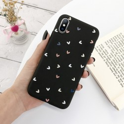 Silicone case for iPhone models - back cover - love hearts