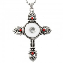 Stainless steel - christian cross pendant - 3 colours - necklace