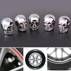 5 pieces - motorcycle / car / bike tire valve caps - skull
